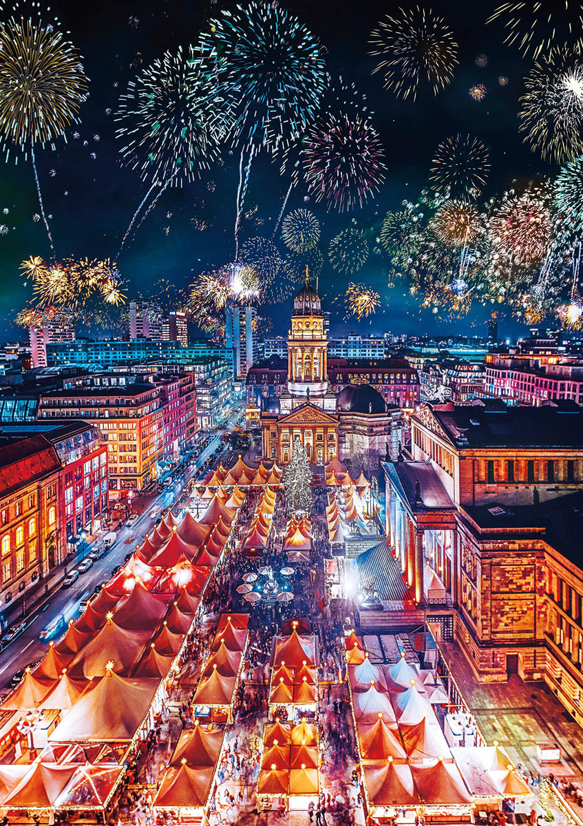 Berlin Puzzle Earthpix Fireworks Finale Berlin Germany
