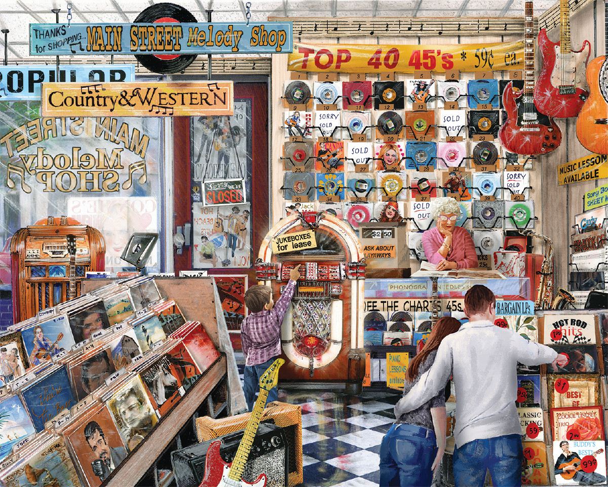 The Melody Shop Jigsaw Puzzle Puzzlewarehousecom