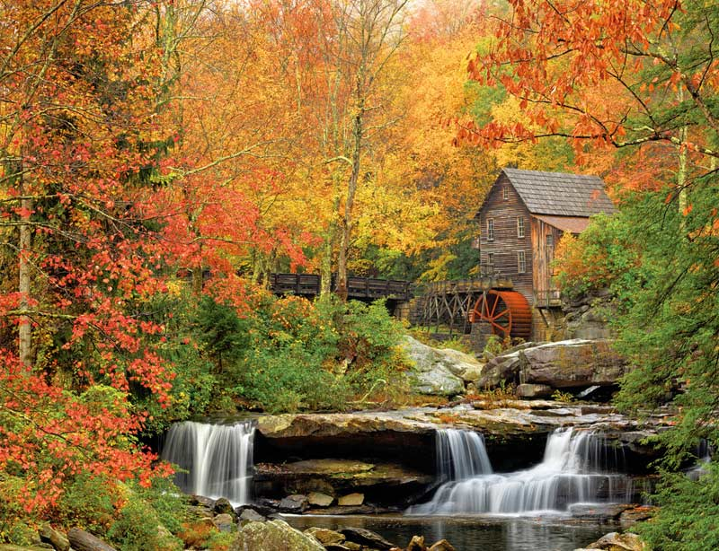 American Wallpaper Fall River Ma Old Grist Mill Jigsaw Puzzle Puzzlewarehouse Com