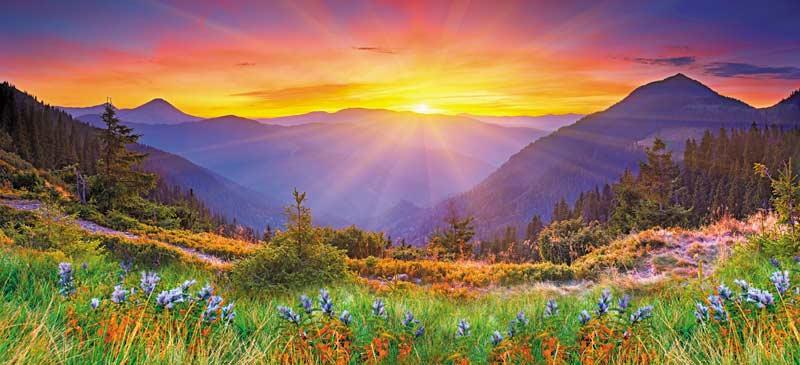 Fall Scenery Hd Wallpaper Majestic Sunset Jigsaw Puzzle Puzzlewarehouse Com