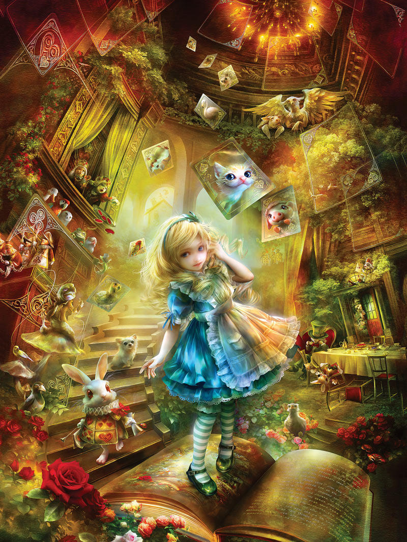 Falling Down The Rabbit Hole Wallpaper Down The Rabbit Hole Jigsaw Puzzle Puzzlewarehouse Com