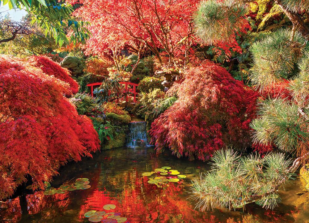Vegetable Garden In Fall Wallpaper Japanese Garden The Butchart Gardens Jigsaw Puzzle