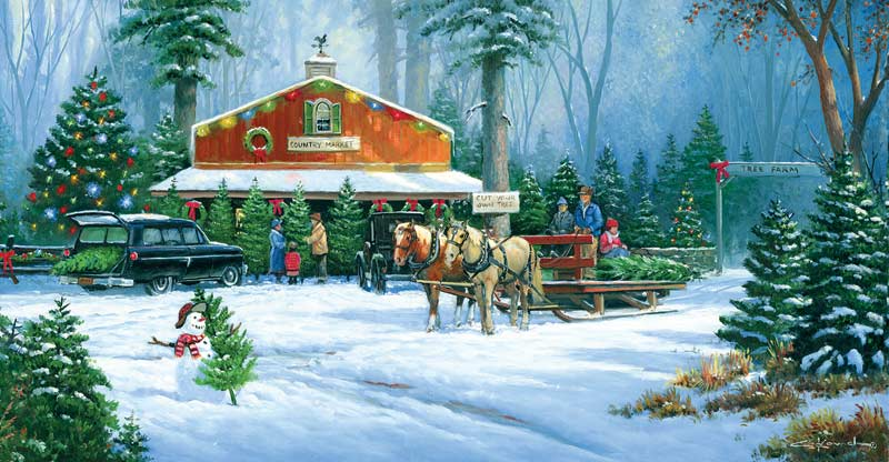 Free Christmas Falling Snow Wallpaper Holiday Tradition Jigsaw Puzzle Puzzlewarehouse Com