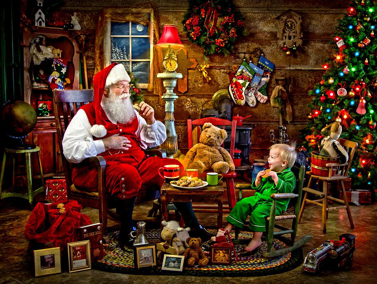 Free Xmas Wallpapers Animated Santa S Visit Jigsaw Puzzle Puzzlewarehouse Com