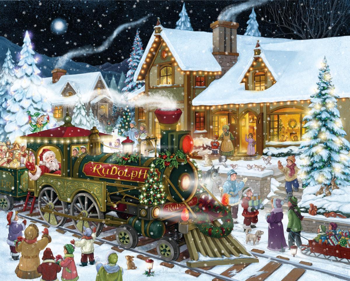 Snow Village 3d Live Wallpaper And Screensaver Santa S Express Jigsaw Puzzle Puzzlewarehouse Com
