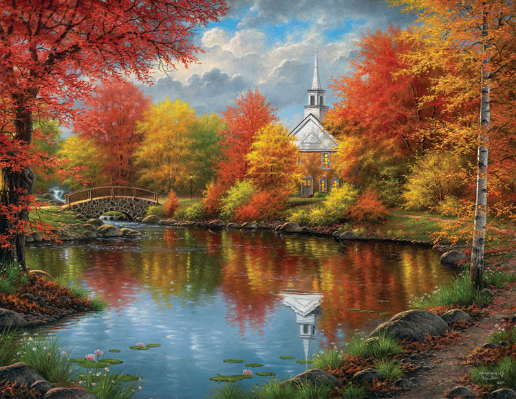 3d Snowy Cottage Animated Wallpaper Free Download Autumn Tranquility Jigsaw Puzzle Puzzlewarehouse Com