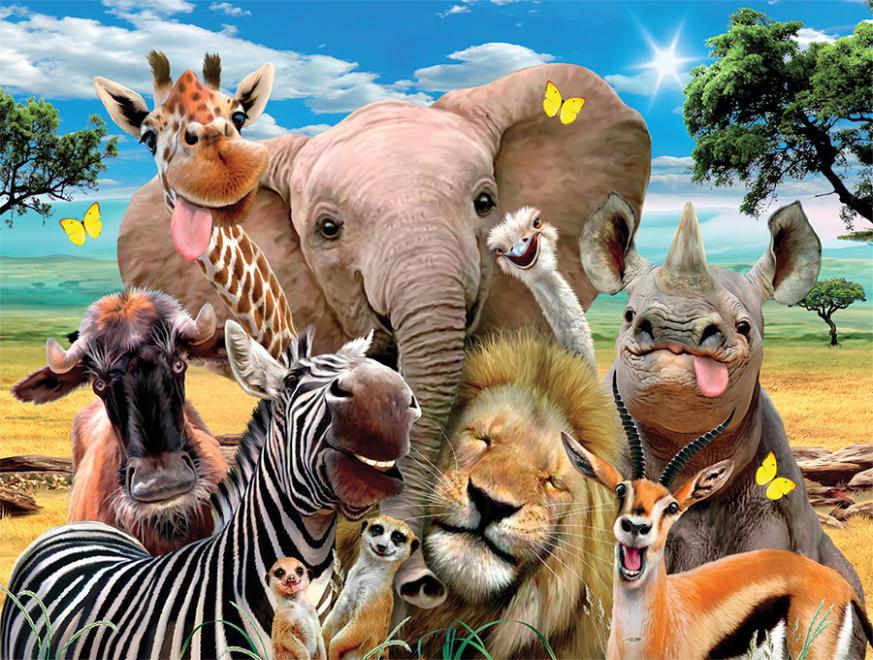 Cute Disney Wallpaper For Laptop On The Savanna Selfies Jigsaw Puzzle Puzzlewarehouse Com