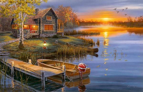 Adirondack Fall Wallpaper Autumn At The Lake Jigsaw Puzzle Puzzlewarehouse Com