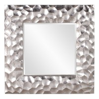 Marley Silver Leaf Square Mirror UVHE25092