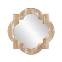 Sabrina Wooden Quatrefoil Mirror UVHE39022