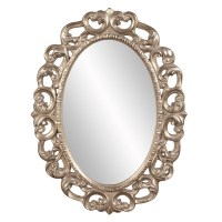 Ansel Oval Silver Leaf Ornate Mirror UVHE43131