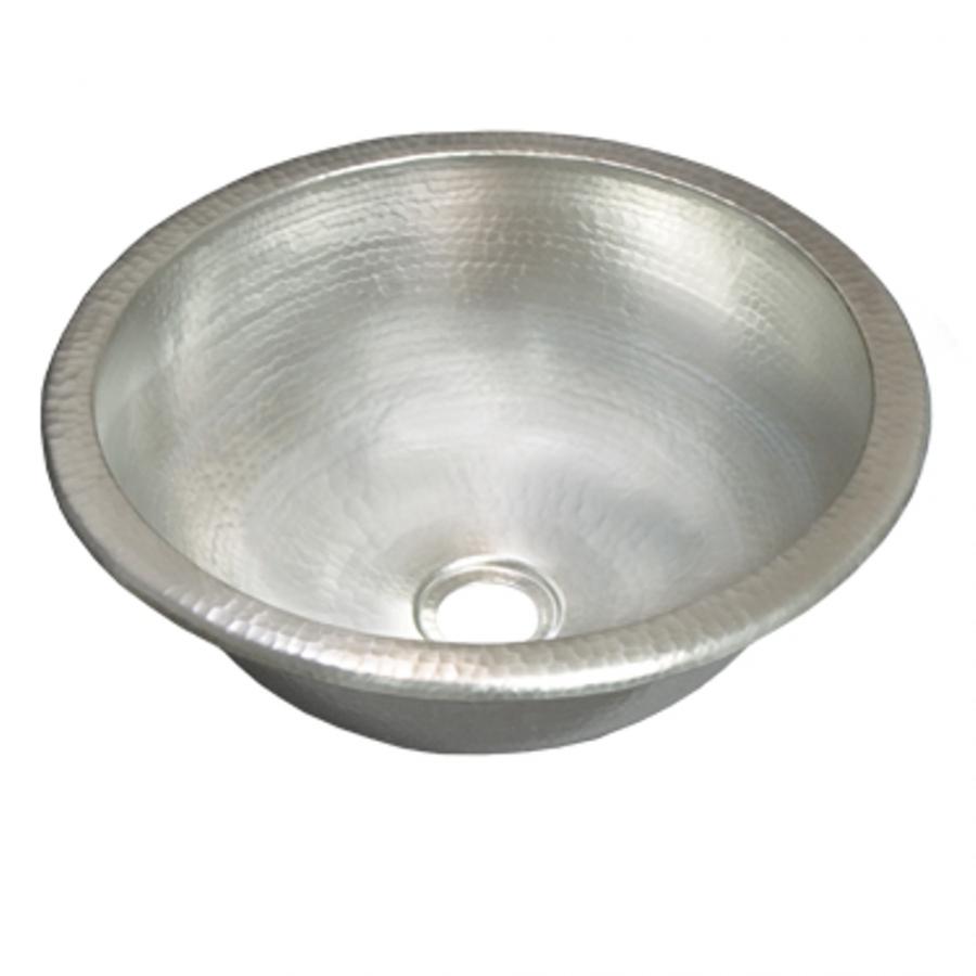 Brushed Nickel Copper Universal Mount Bathroom Sink Uvntcps559