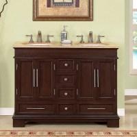 48 Inch Double Sink Bathroom Vanity in Dark Walnut UVSR022448