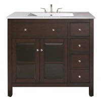36 Inch Single Sink Bathroom Vanity with Ceramic ...