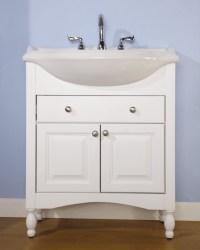 30 Inch Single Sink Narrow Depth Furniture Bathroom Vanity ...