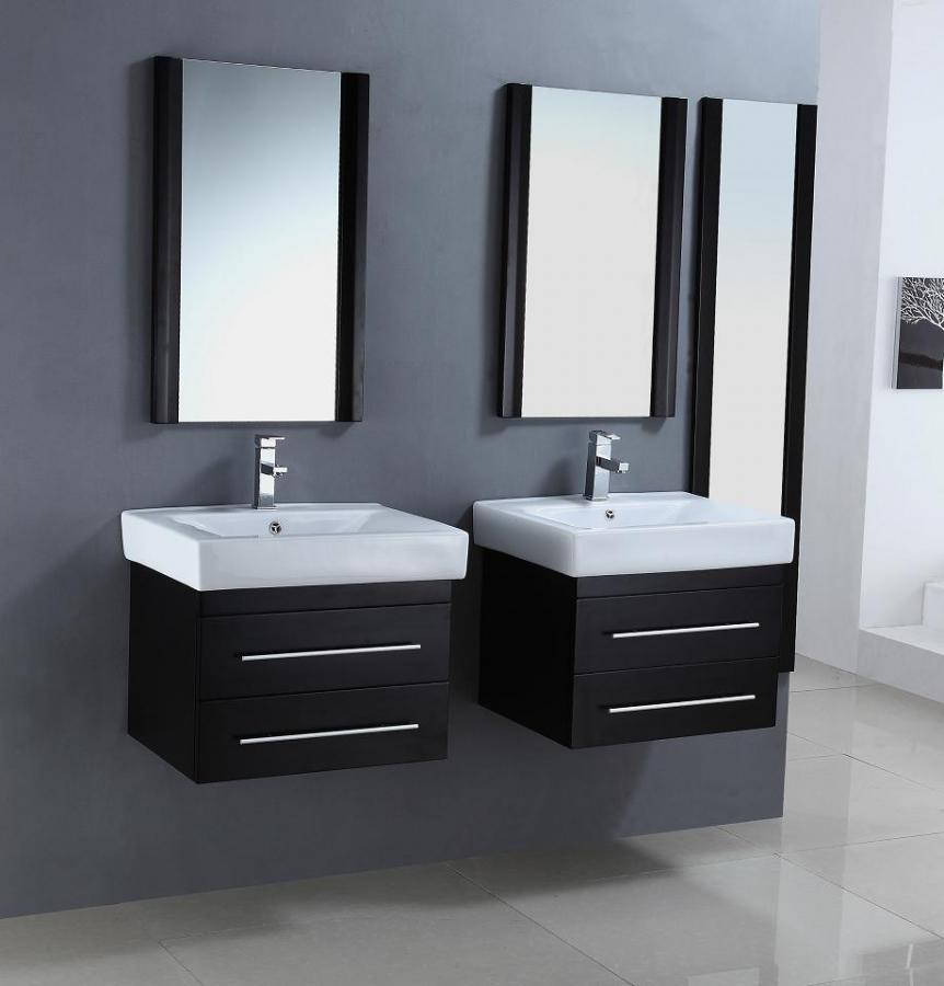 24 Inch Modern Single Sink Bathroom Vanities In A Set Of