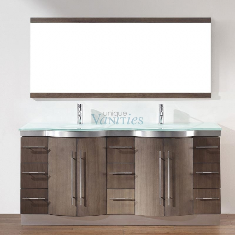 Bathroom Vanity 72 Double Sink 72 Inch Double Sink Bathroom Vanity With Choice Of Top In Smoked Ash Uvabdisa72d