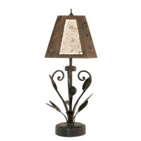 Floral Wrought Iron Table Lamp UVSLFLORR