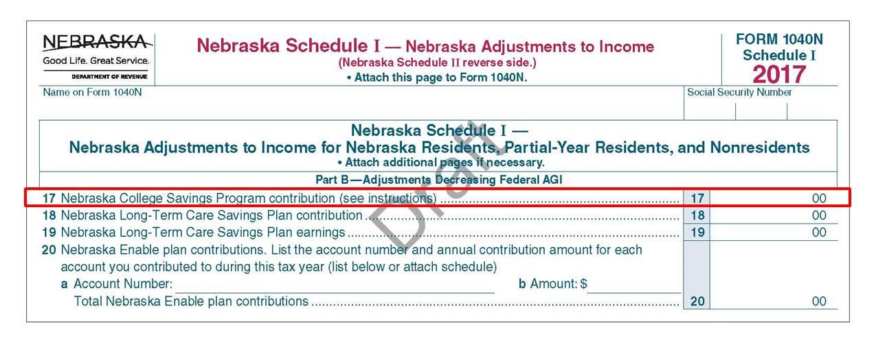 Nebraska Tax Form Tips NEST 529 College Savings - tax form