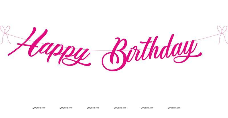 Peppa Pig theme Pink Happy Birthday Banner - Untumble