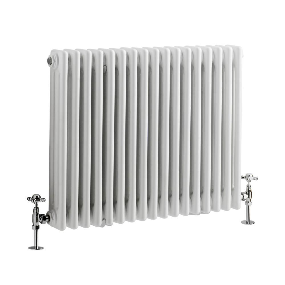 Wattage Radiator Regent White Horizontal 3 Column Traditional Cast Iron Style Radiator 23 5