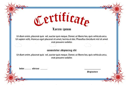Certificate Background with Sample Text - Vectorjunky - Free Vectors
