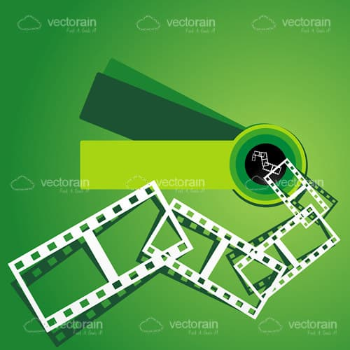 White Film Strip on a Gradient Green Background - Vectorjunky - Free