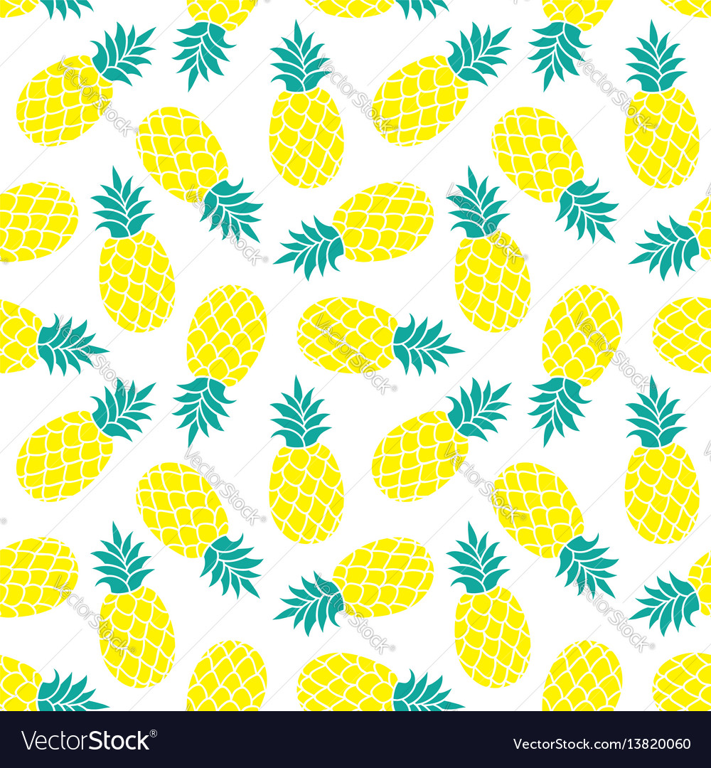 Watermelon Wallpaper Cute One Pineapple Background Summer Colorful Tropical Vector Image
