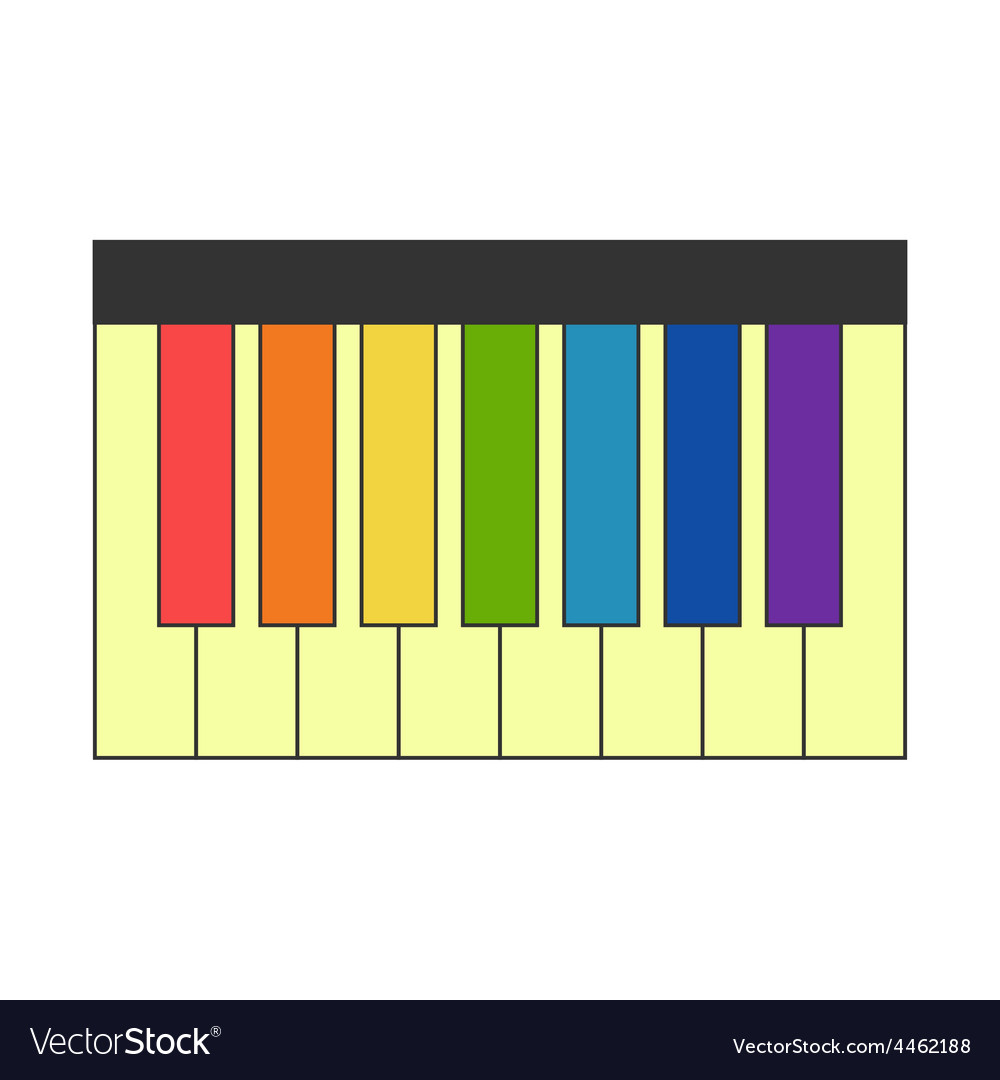 Trendy Colorful Keys Vector Image Piano Colorful Keys Royalty Free Vector Image How To Make A Colorful Keyboard A Colorful Man Readworks Answer Key Piano inspiration A Colorful Key