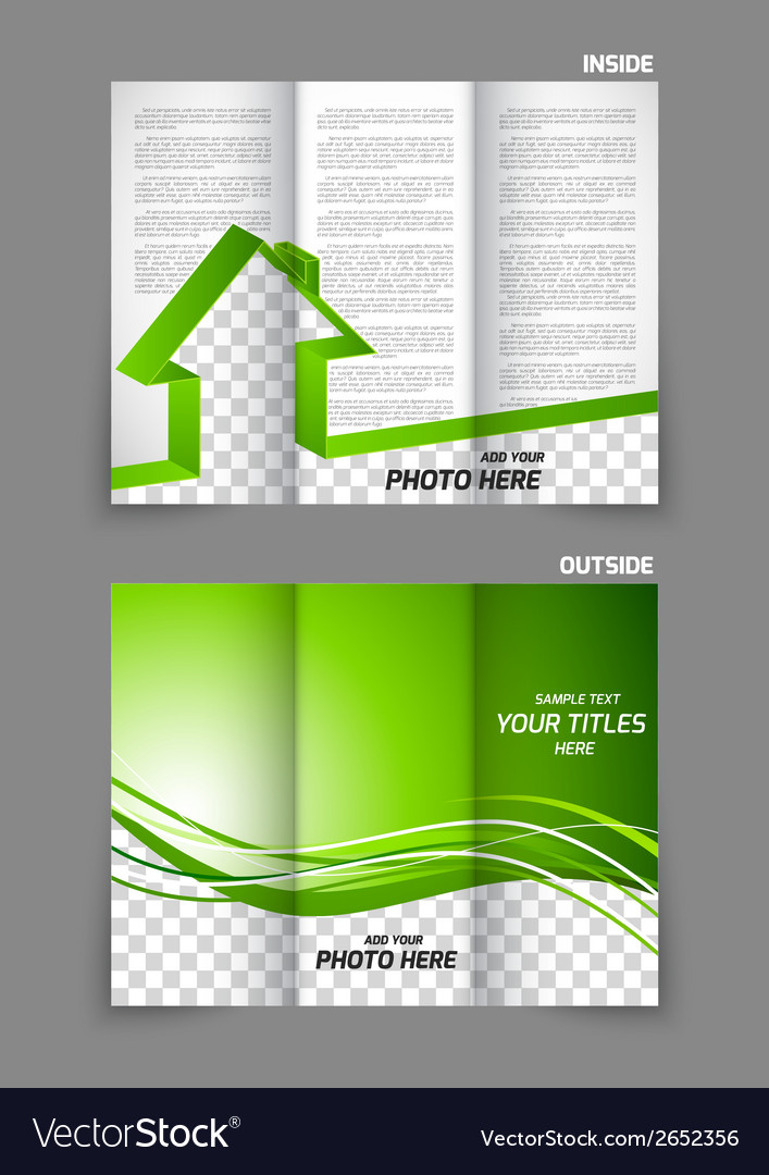 Real estate tri-fold brochure Royalty Free Vector Image - tri fold brochure