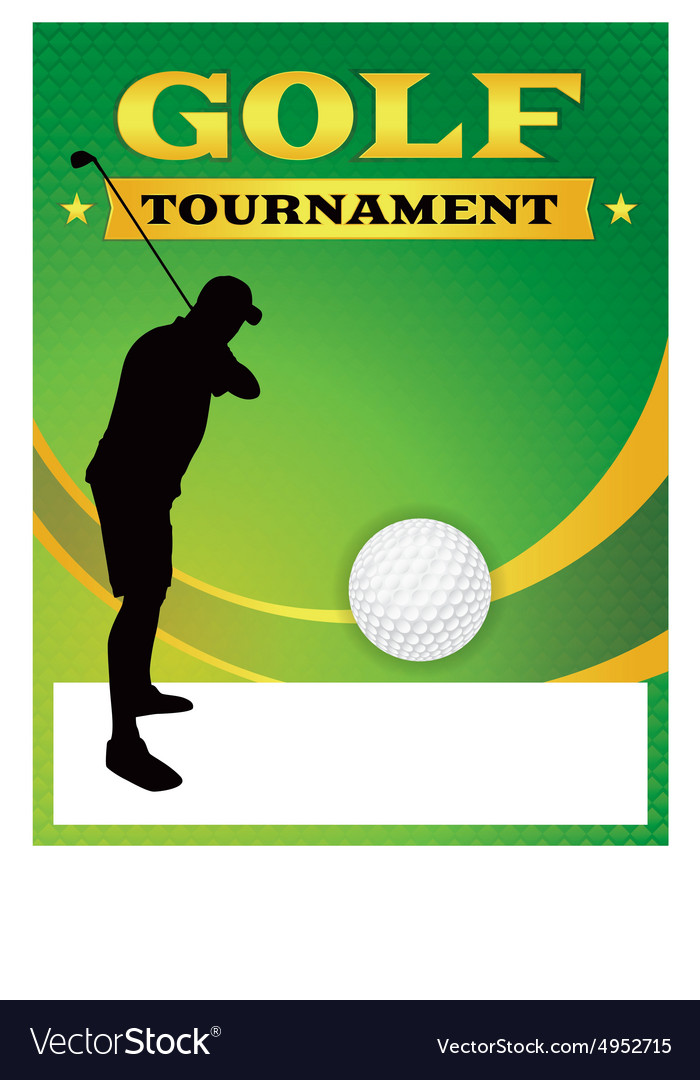 Golf Tournament Flyer Template Royalty Free Vector Image - golf tournament flyer template
