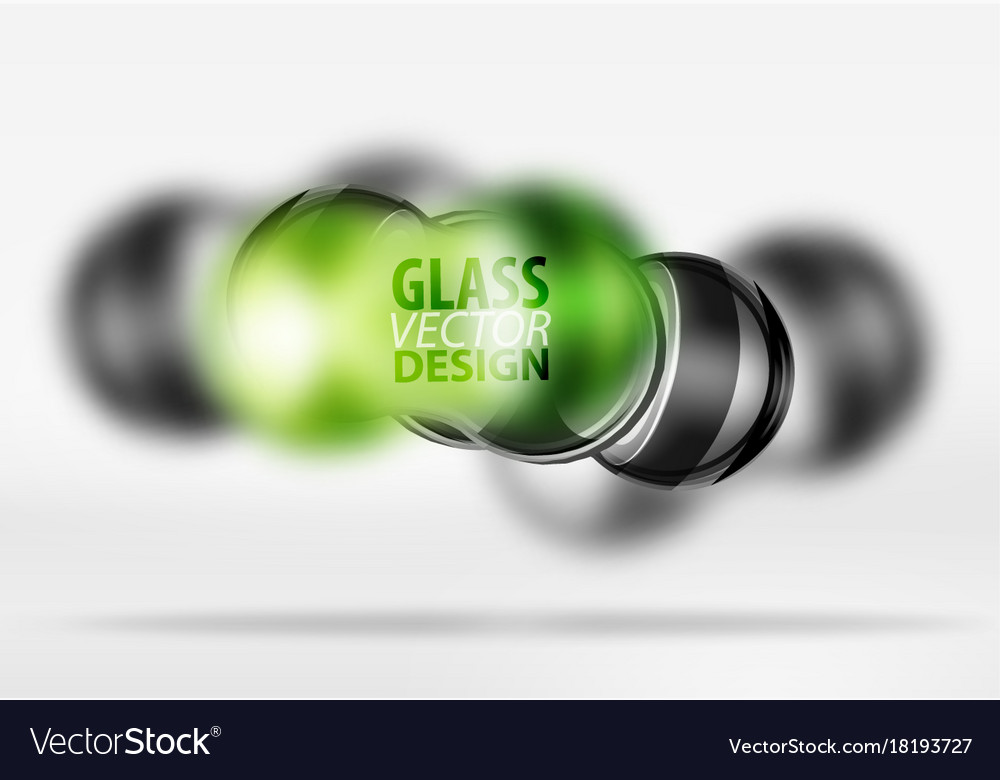 3d techno glass bubble design Royalty Free Vector Image