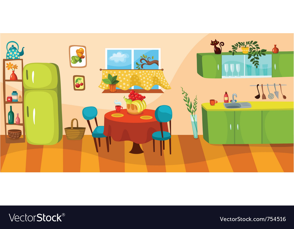 Clipart Küche Kitchen Royalty Free Vector Image - Vectorstock