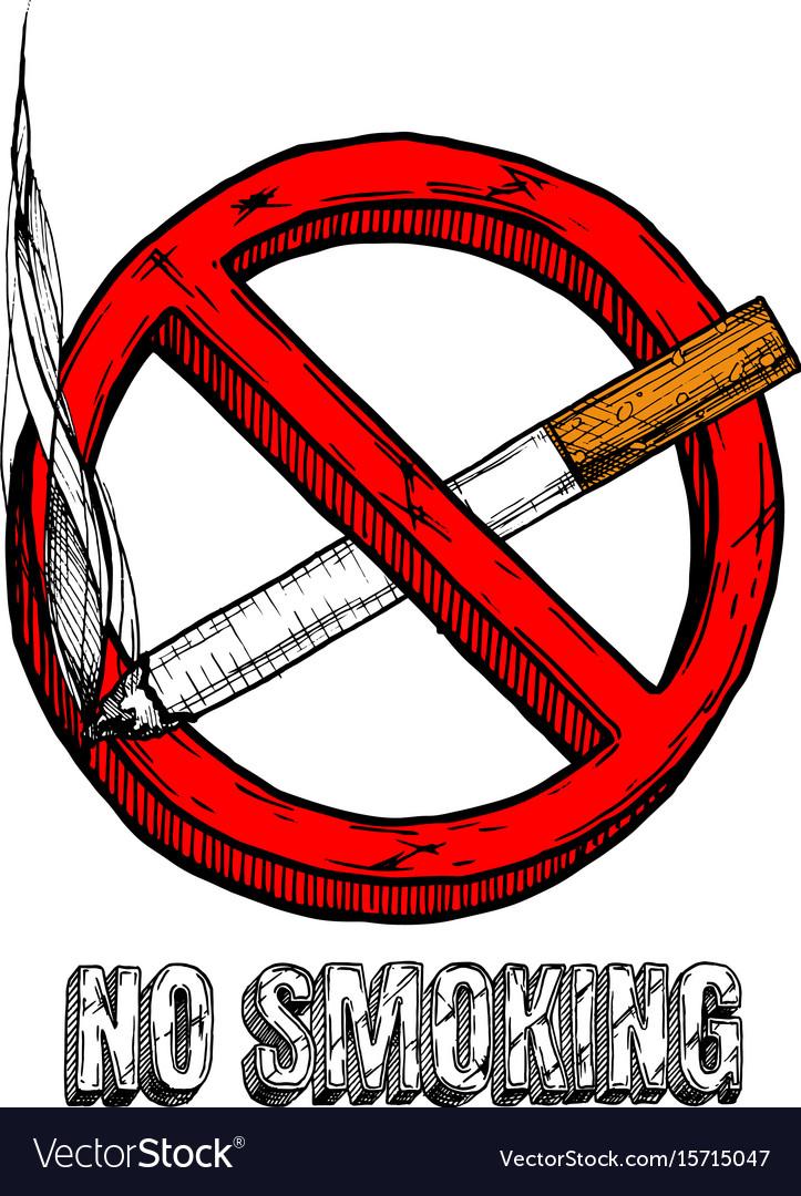 No smoking sign Royalty Free Vector Image - VectorStock