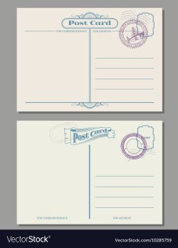 Small Of How To Address A Postcard
