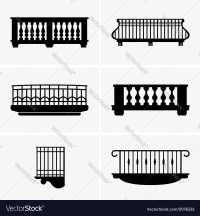 Balconies Royalty Free Vector Image