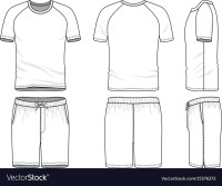 Templates of blank t-shirt and shorts Royalty Free Vector