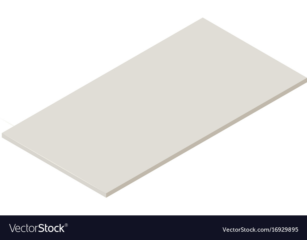 Drywall icon isometric 3d style Royalty Free Vector Image - free isometric paper