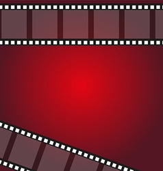 Camera film roll on wallpaper red background Vector Image