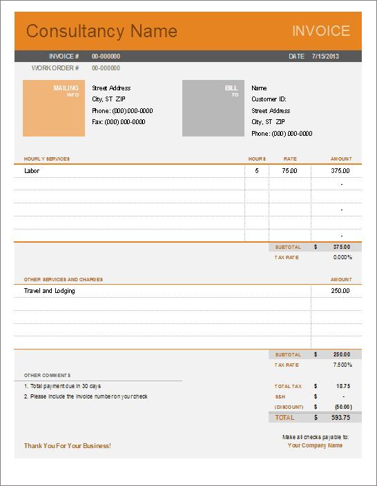Company Profile Resourceful Hr Free Invoice Templates Contractor Free Invoice