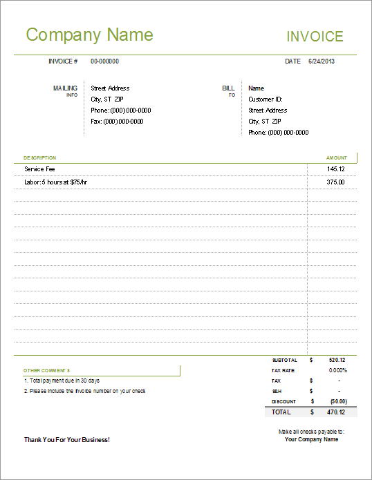 Simple Invoice Copy | How To Address Job Departures