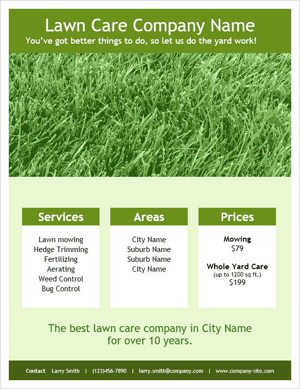 Lawn Care Flyer Templates – Sponsorship Flyer Template