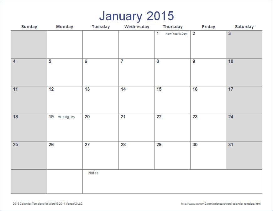 2015 Calendar Templates For Word Costumepartyrun