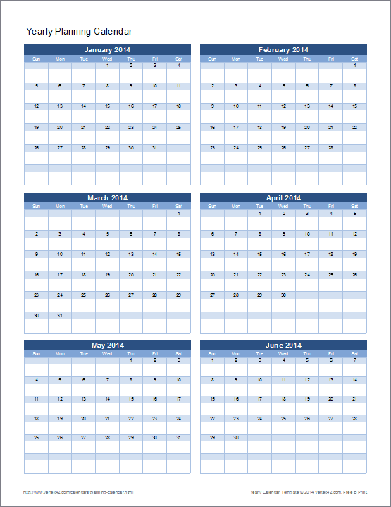 Create Yearly Calendar With Notes Yearly Calendar Template For 2018 And Beyond Vertex42 Planning Calendar Template Yearly