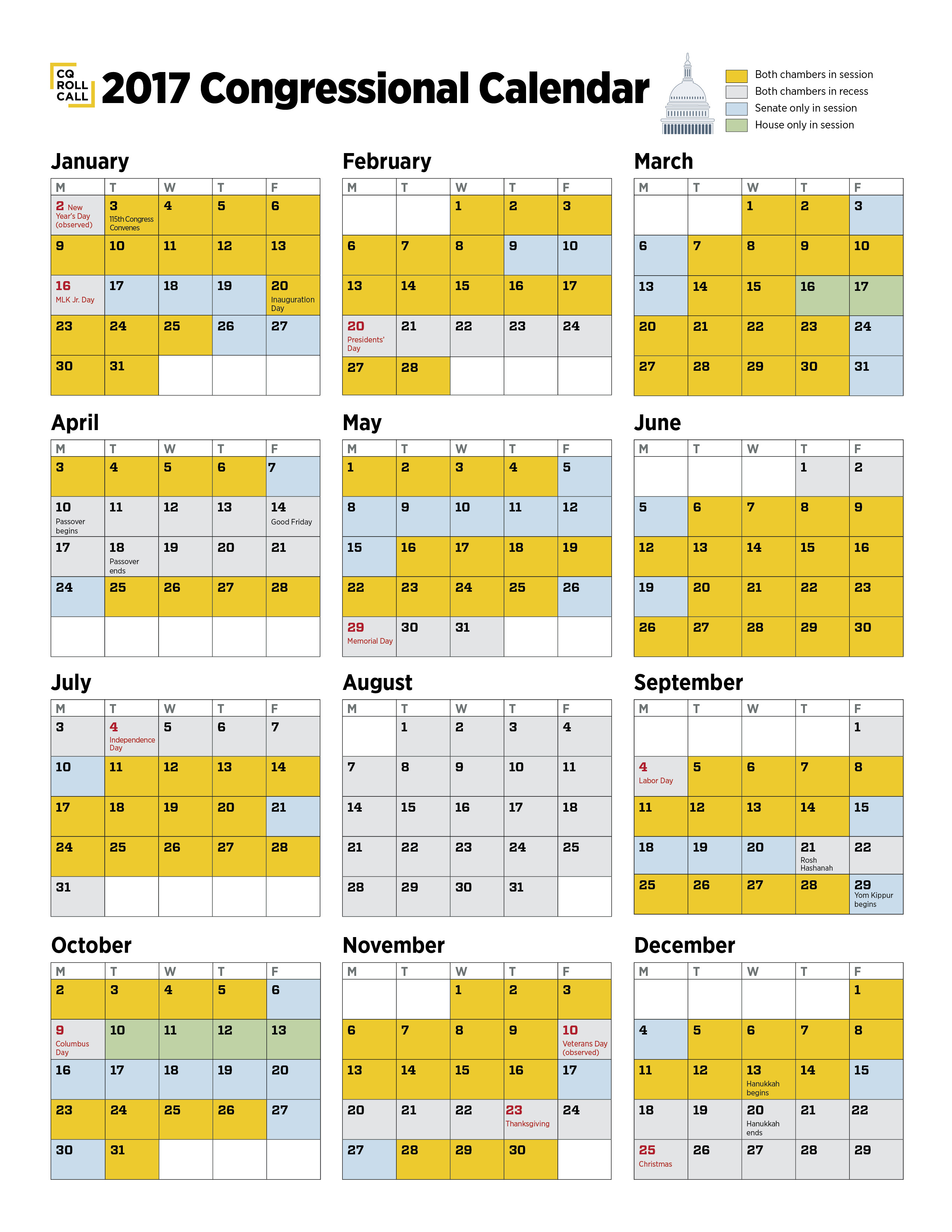 National Drink Days Calendar Mixology Diary New Congress Same Promises On Working Days Bipartisan