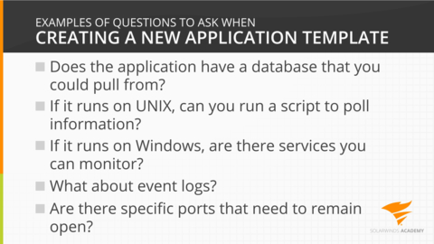 Creating a new application template - Video - SolarWinds Worldwide