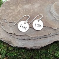 Sterling Silver Hand-Stamped Distance Earrings  Virtual ...