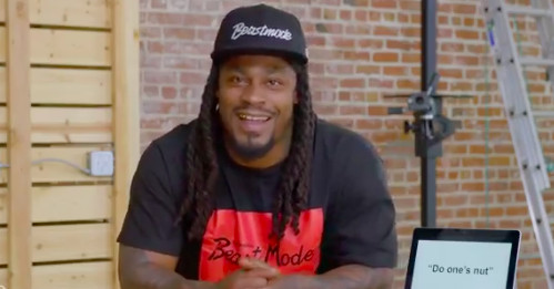 Marshawn Lynch Trying To Understand British Slang Is An