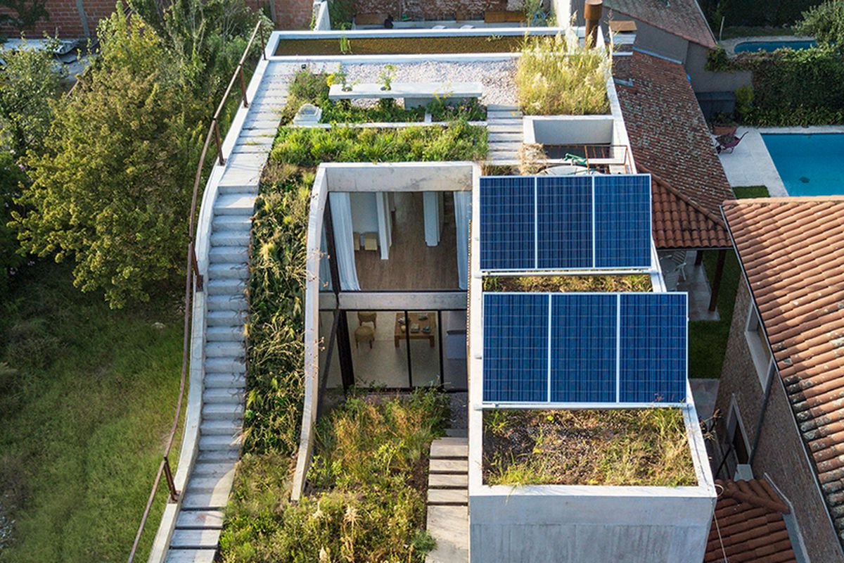 Atlanta Residential Architects Solar-powered Modern Home Has Gardens On Every Floor - Curbed