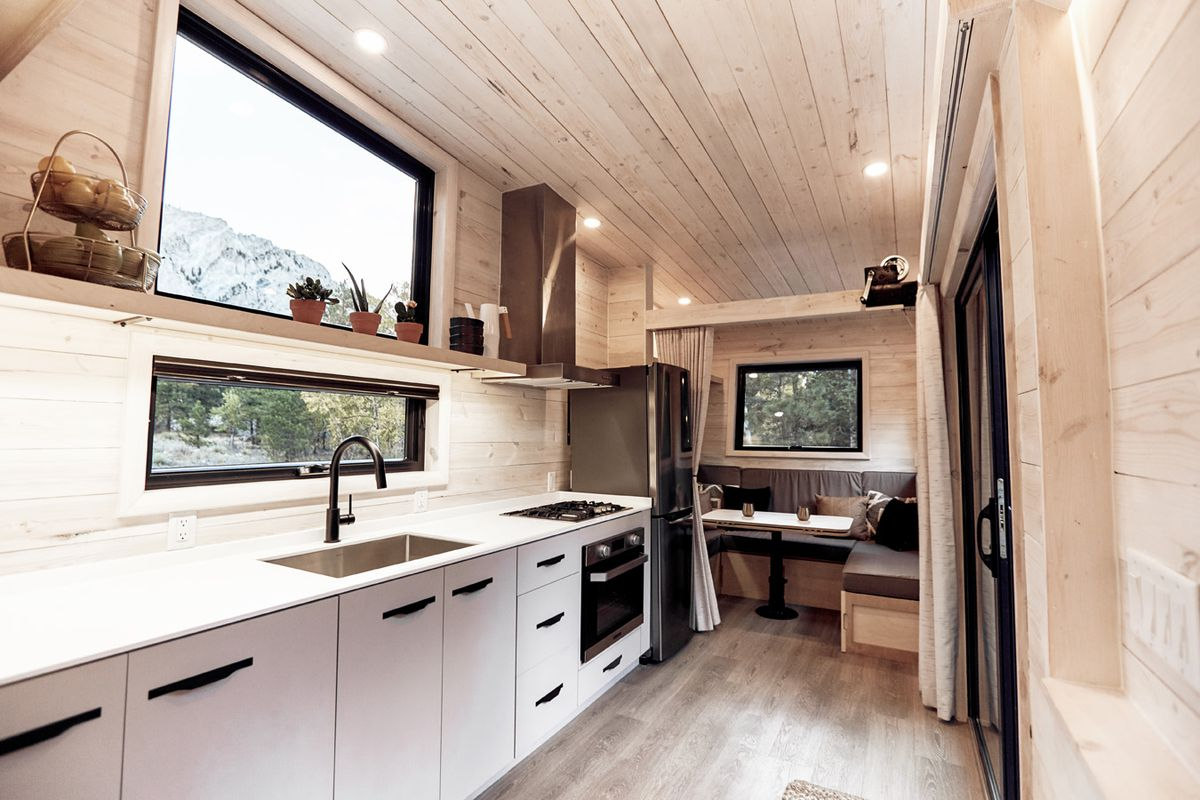 Wooden Sofa Tiny House For Sale From Land Ark Rv Is Ultra-stylish - Curbed